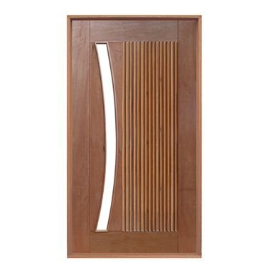 Porta pivotante barcelona vid. arco montada no batente com pivô