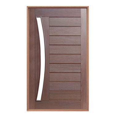 Porta mex. horizontal vid. arco montada no batente com pivô