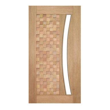 Porta Pivotante Detalhe para Vidro em Arco