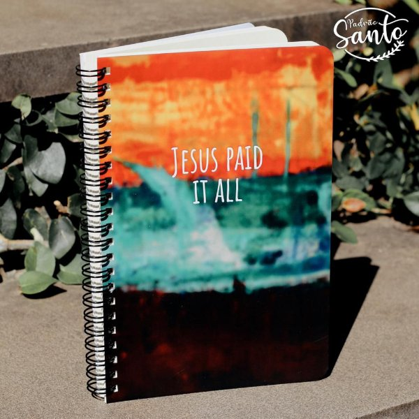 Caderno Jesus Paid Wire-O