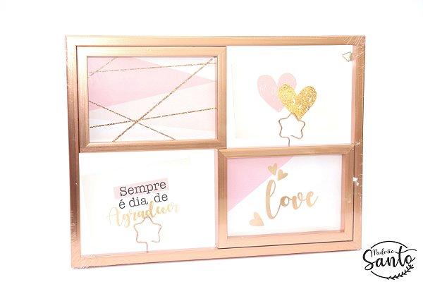 Porta Retrato/Quadro Decorativo - Rose Gold