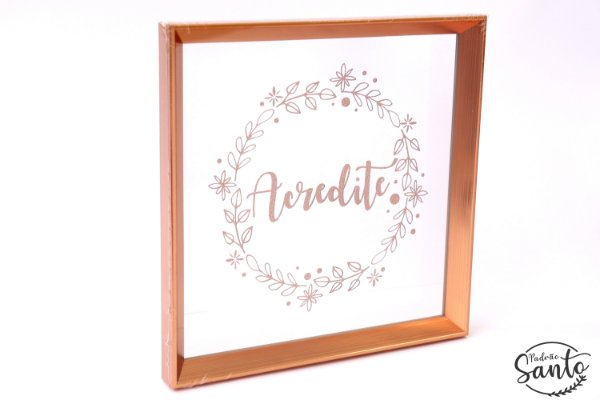 Quadro Decorativo (com espelho) - Rose Gold
