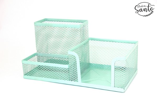 Porta objetos metálico - Cor Verde