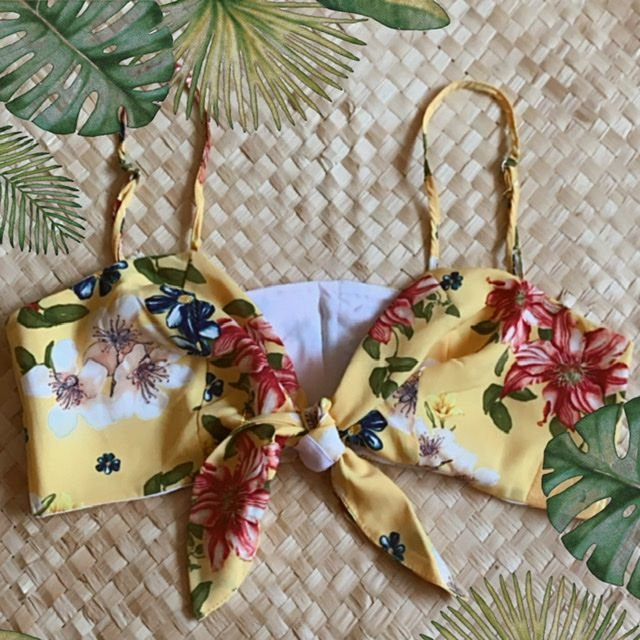 Cropped Top Floral Amarelo