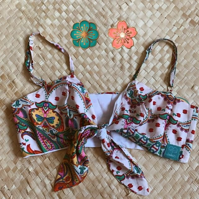 Cropped Top Arabescos