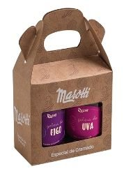 KIT 2 GELEIAS DE FRUTAS MASOTTI UVA/FIG