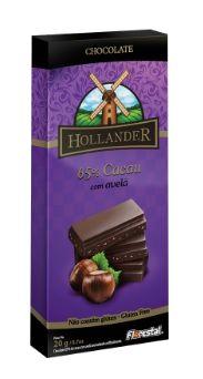 CHOCO HOLLANDER 65% CACAU/AVELA 20G - UNIDADE