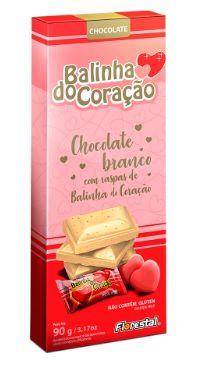 CHOCO BALINHA CORACAO BRANCO 90G - UNIDADE