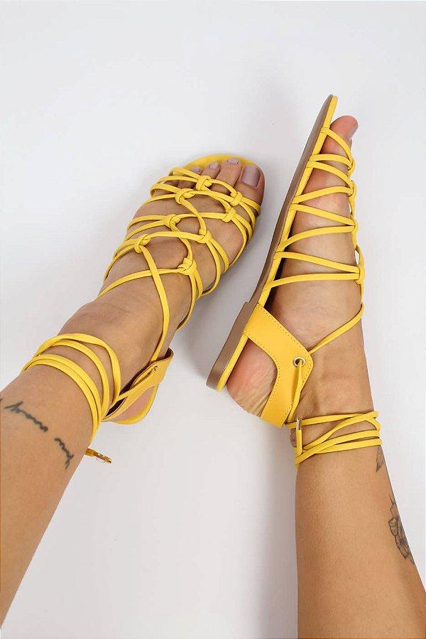Rasteira Siena Amarela