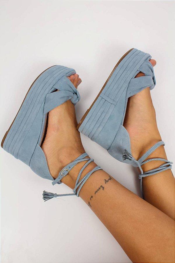 Sandália Camurça Ana Azul