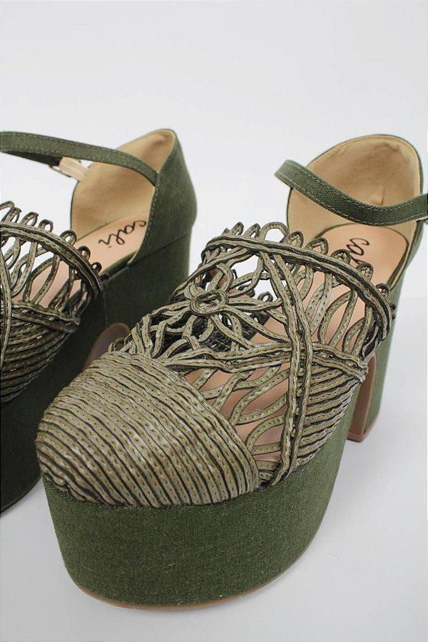 Sandália Fechada Verde