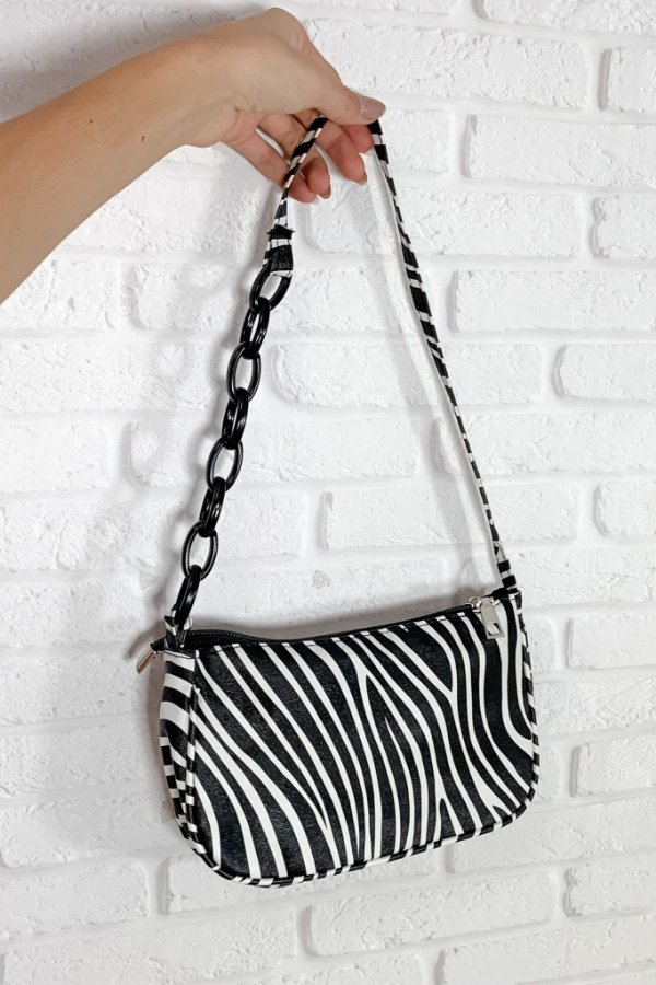 Bolsa Mini Ombro Zebra