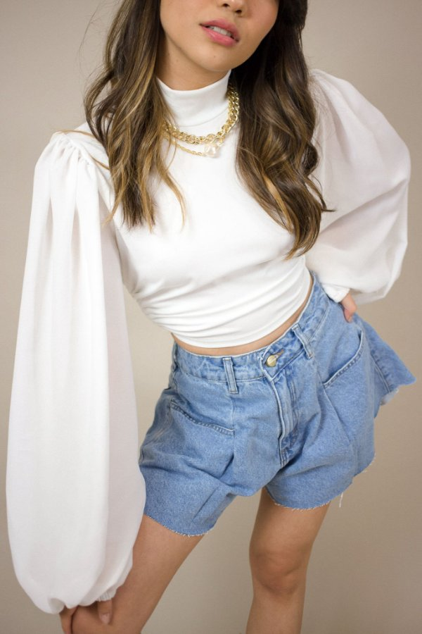 Cropped Gola Fashion White