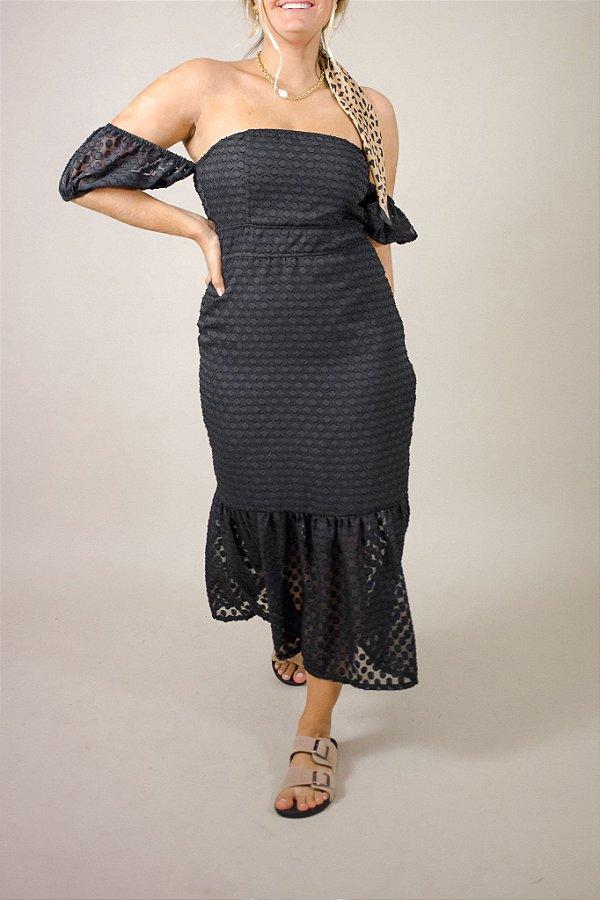 Vestido Primavera Preto