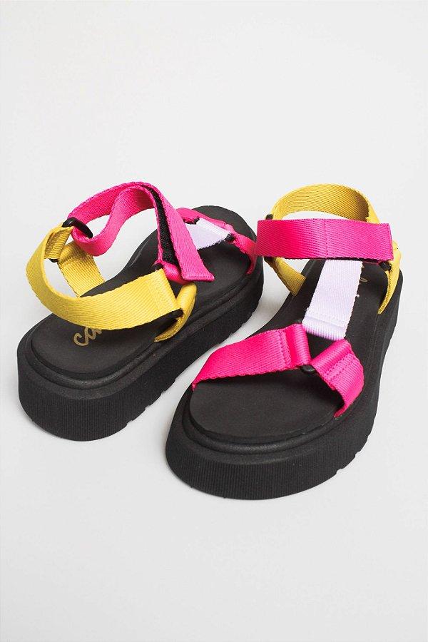 Sandália Papete Colorida
