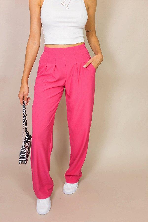 Calça Pantalona Basic Rosa