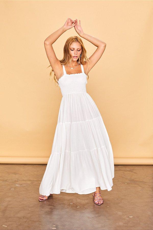 Vestido Lastex Branco