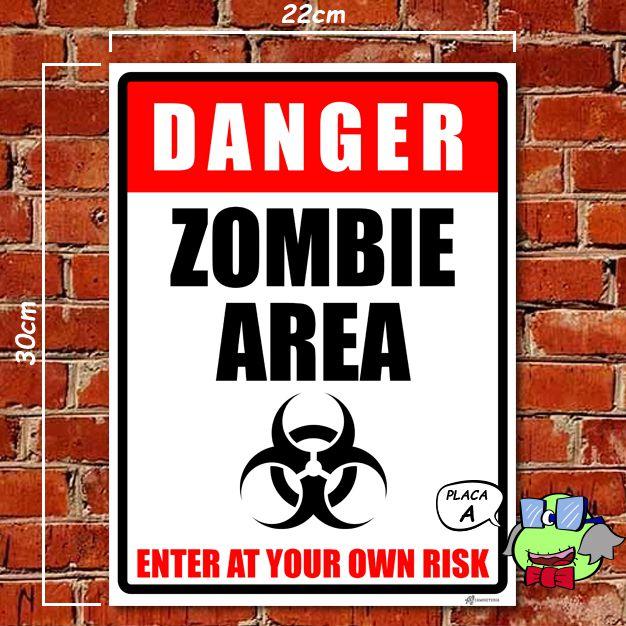 Placas decorativas Zombie Area