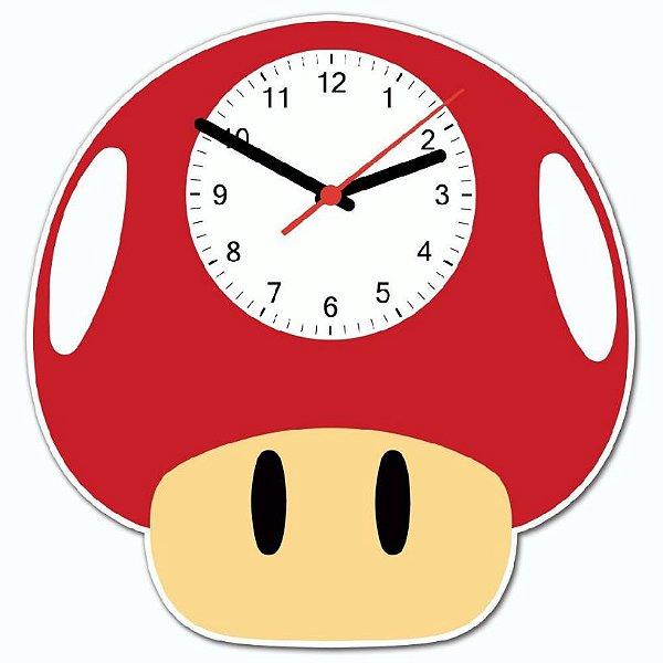 Relógio de Parede Super Cogumelo