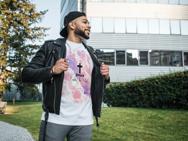 Camiseta Tshirt Evangélica Religiosa Jesus fonte de vida