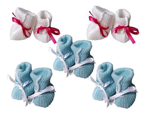 Sapatinhos Para Bebe De Lã 5 Pares