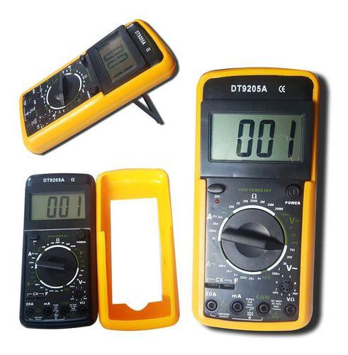 Multímetro Digital Aviso Sonoro Leitor Lcd  Dt 9205a