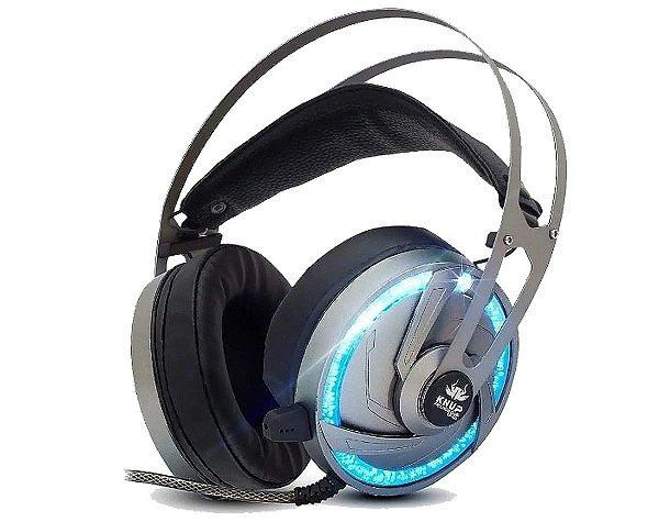 Fone De Ouvido Headset Gamer 7.1 Pc Led Com Microfone Kp-434