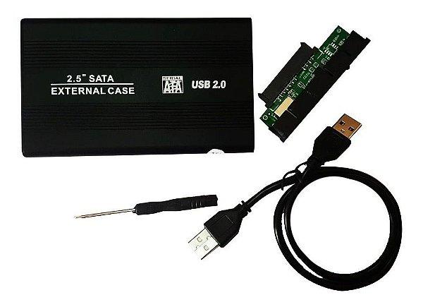 Case Para Hd Externo 2.5 Sata Notebook Usb 2.0