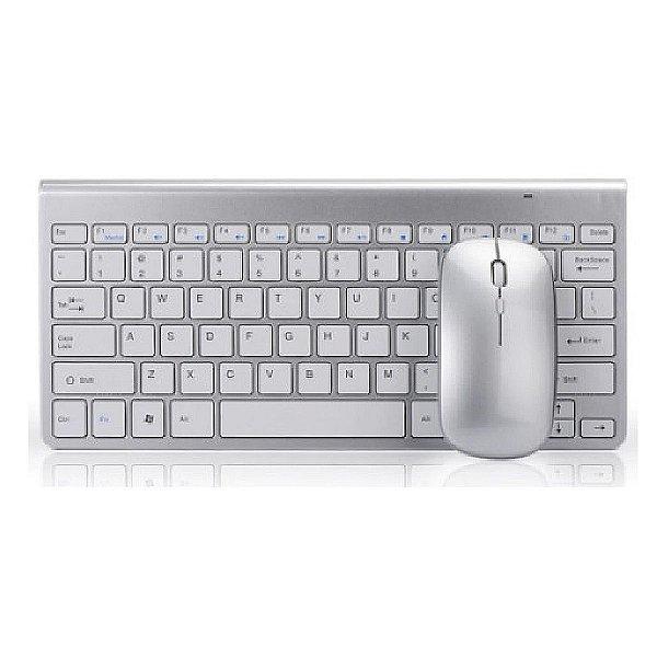 Kit Teclado E Mouse Sem Fio Slim Wireless estilo Imac
