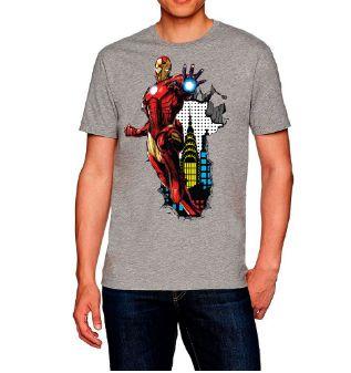 Camiseta camisa Casual Homem de Ferro