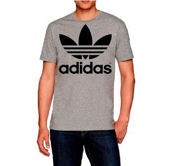 Camiseta unissex T-shirt camisa Casual estampada Adidas cinza
