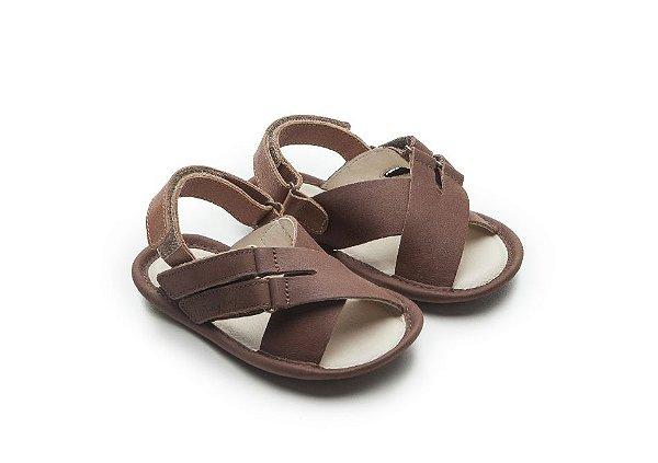 Sandália Papete Leashy Old Brown