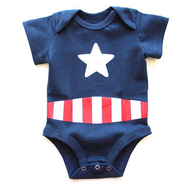 Body Capitão América Marinho