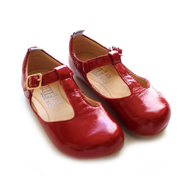 Sapatilha Boneca Verniz Red