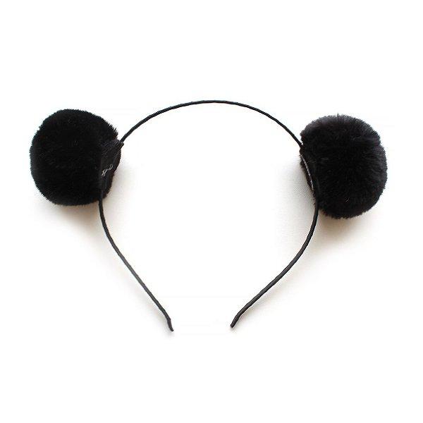 Tiara Bear Pompom Black