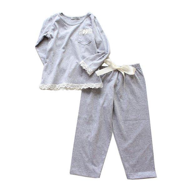 Pijama Mescla Rendinha