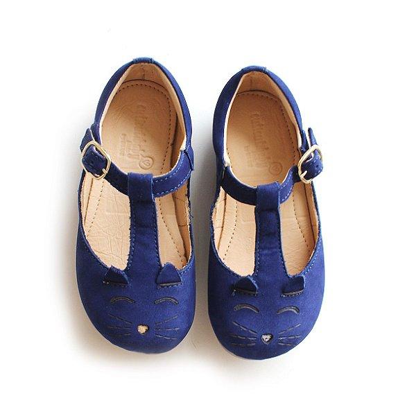 Sapatilha Gatinho Nobuck Blue