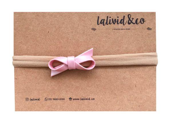 Laço Pier Mini Rosa Metálico