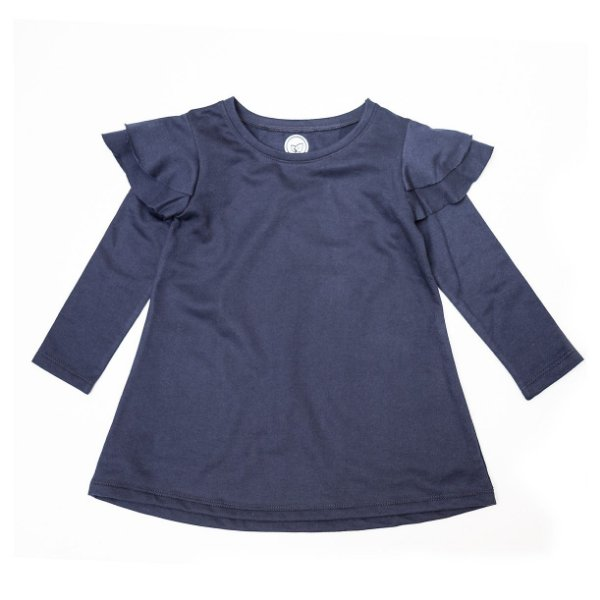 Vestido Frufru Fleece Navy