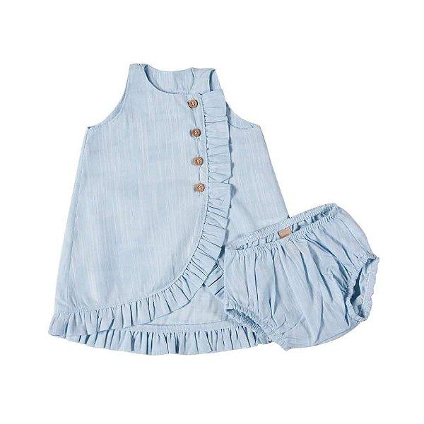 Vestido Frufru Azul