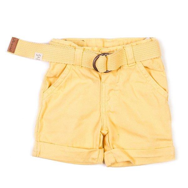 Short com Cinto Color Amarelo Banana