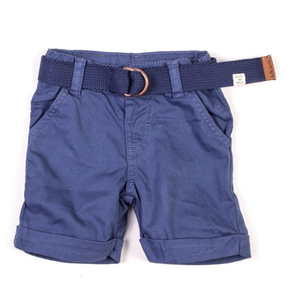 Short com Cinto Color Azul Lavado
