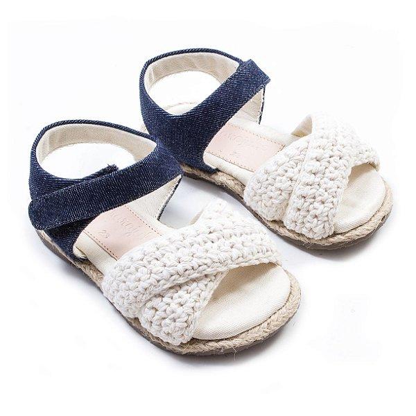 Rasteirinha ECO Crochet Jeans