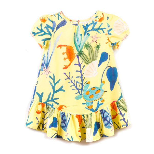 Vestido Fundo do Mar Yellow
