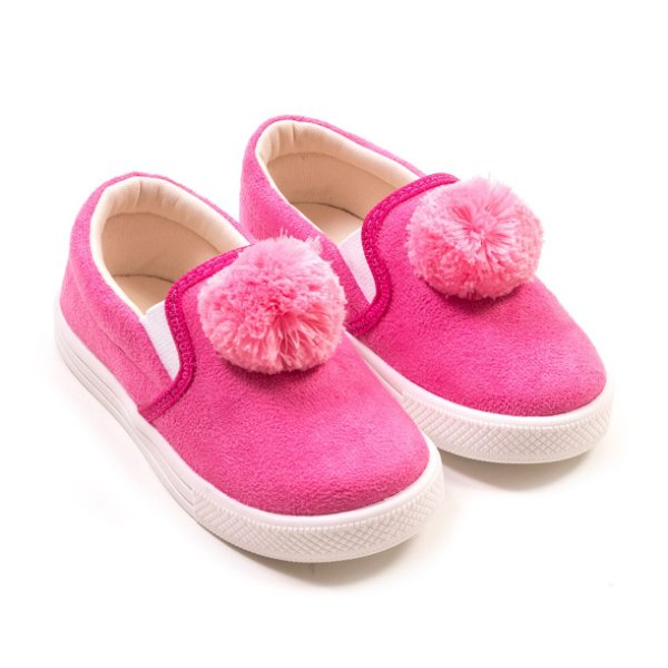 Tênis Slip On Pompom Pink