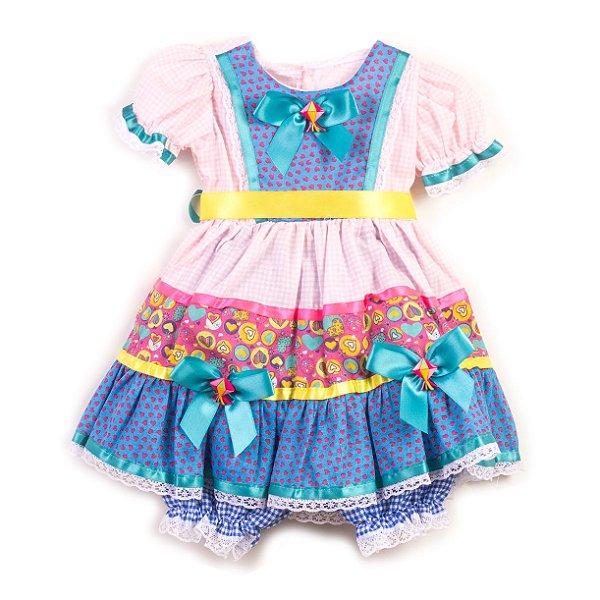Vestido Baby Festa Junina Xadrez
