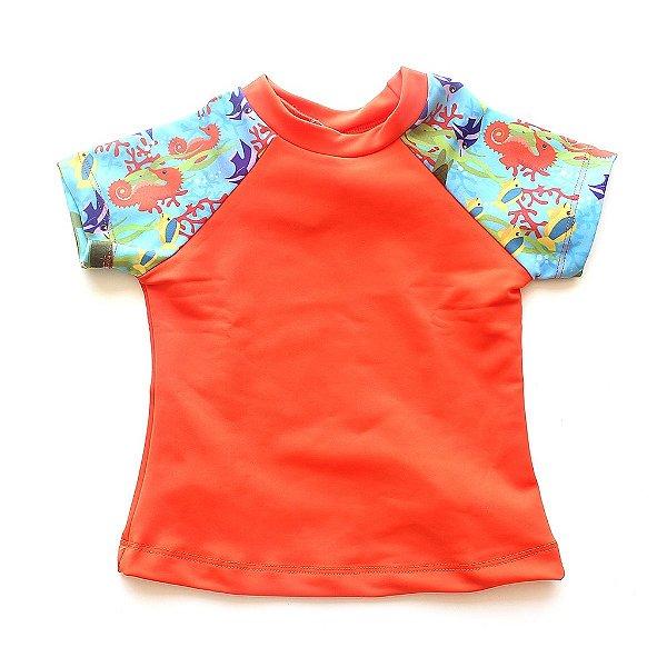 Camisa Manga Curta Fundo do Mar  FPU50