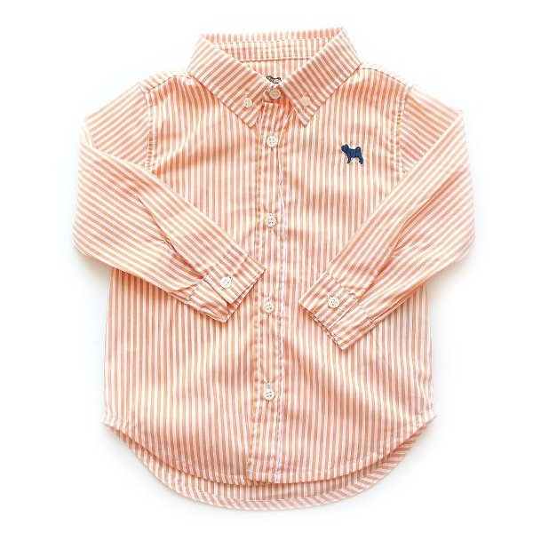 Camisa Botão Manga Comprida Listradinha