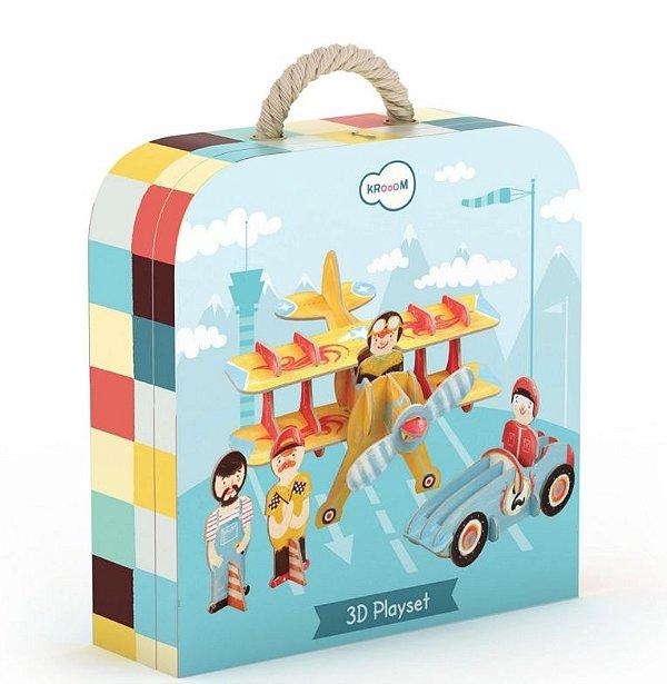 Eco Brinquedo de Corrida 3D