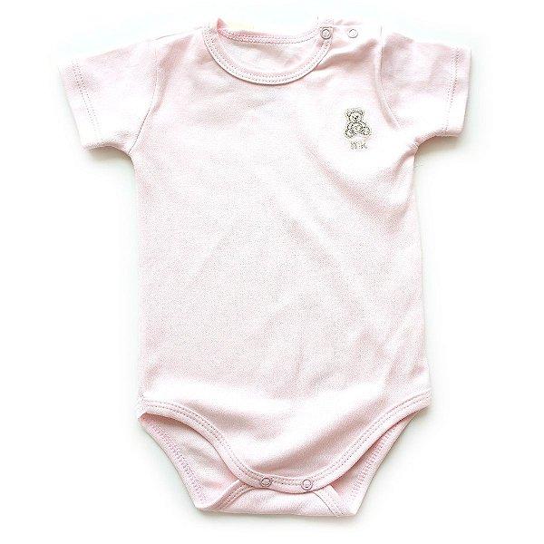 Body Algodão Pima Rosa Bebê